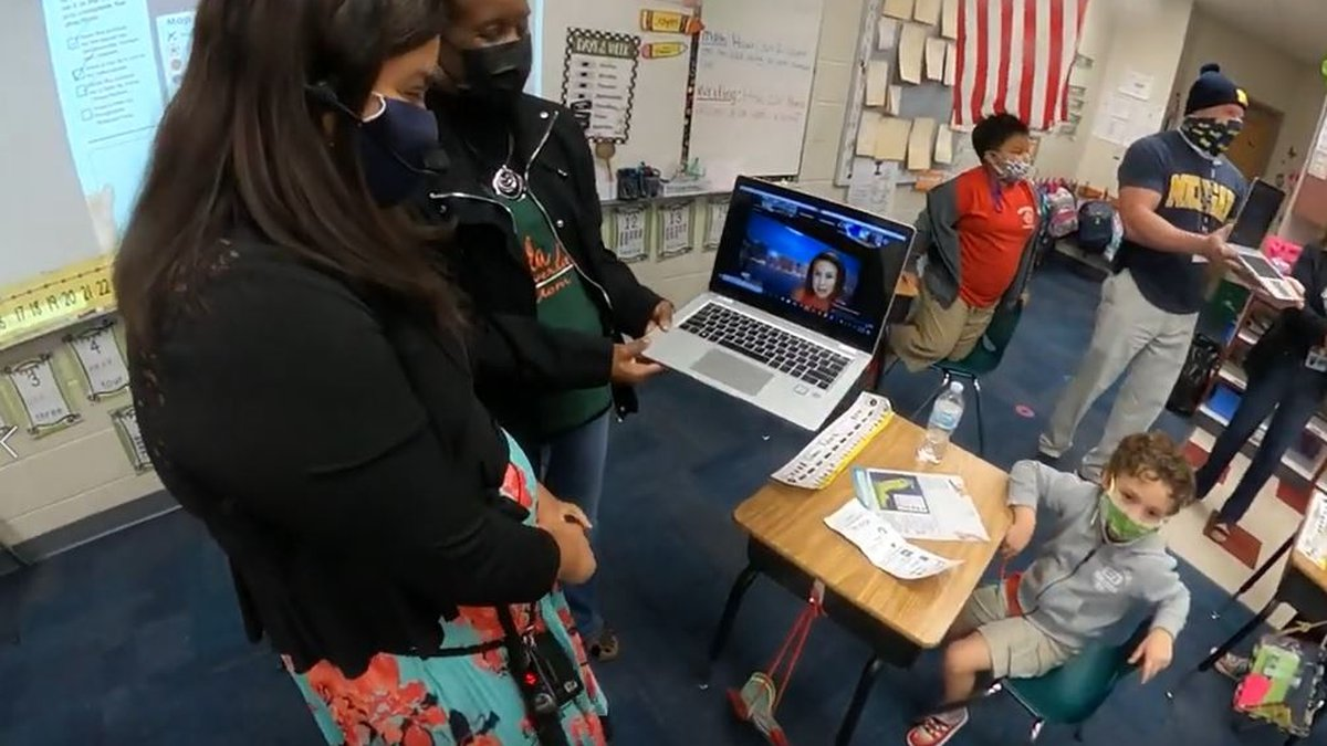 Manatee County teacher being surprised with $500