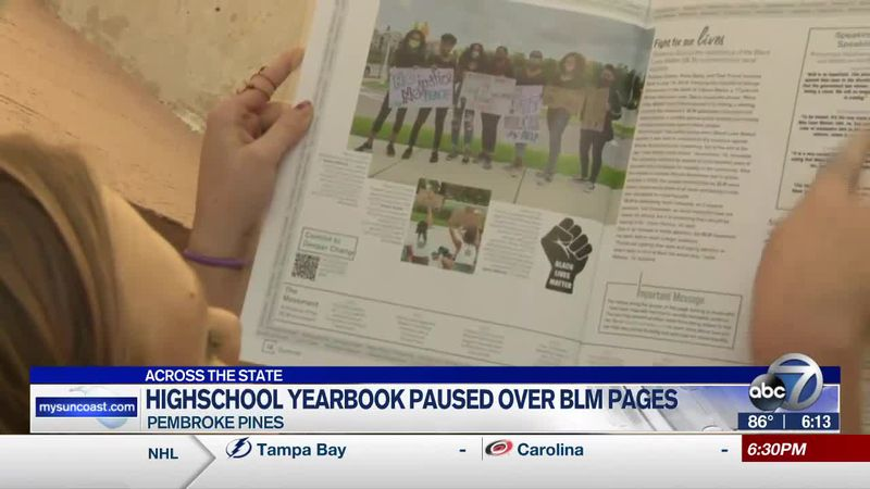 High school yearbook paused over BLM pages