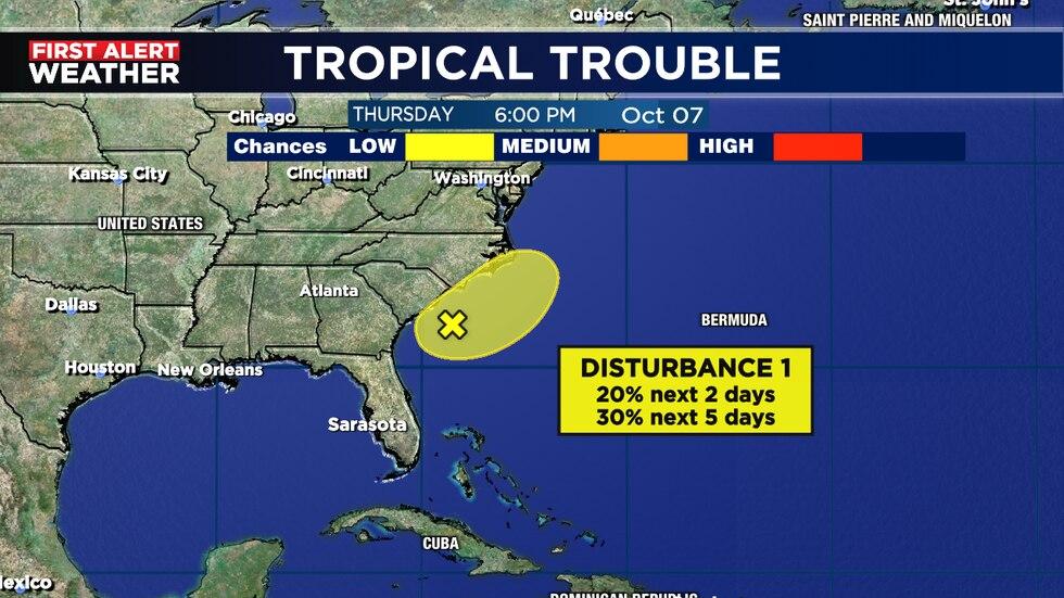 Heavy rain expected for Carolina coast for weekend