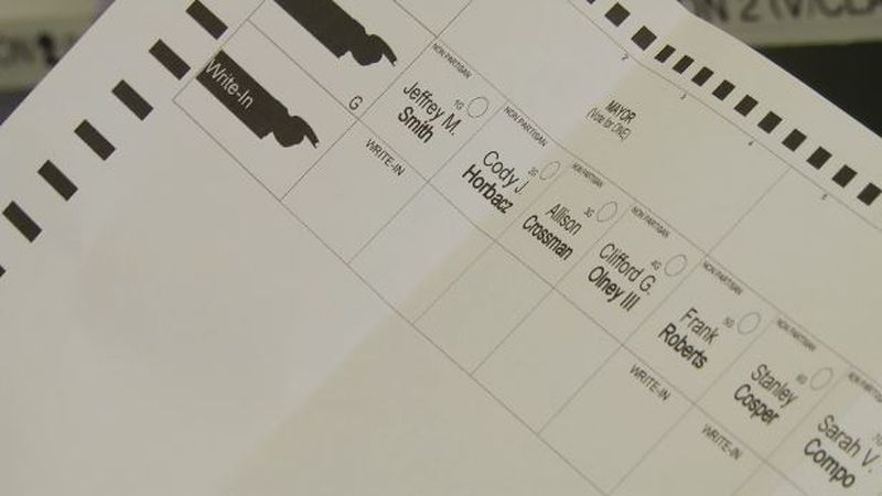 Ballot for Watertown mayor primary