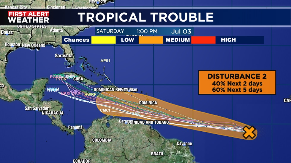 Chances going up for tropical development