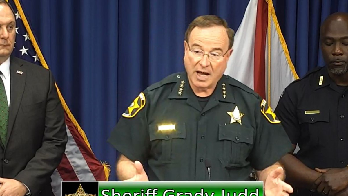 Sheriff Grady Judd announced the largest drug bust in history