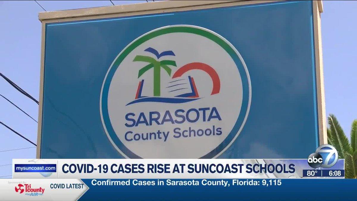 CODIV-19 Cases Rise at Suncoast Schools