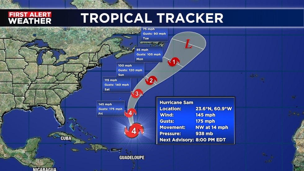 Expected to pass east of Bermuda