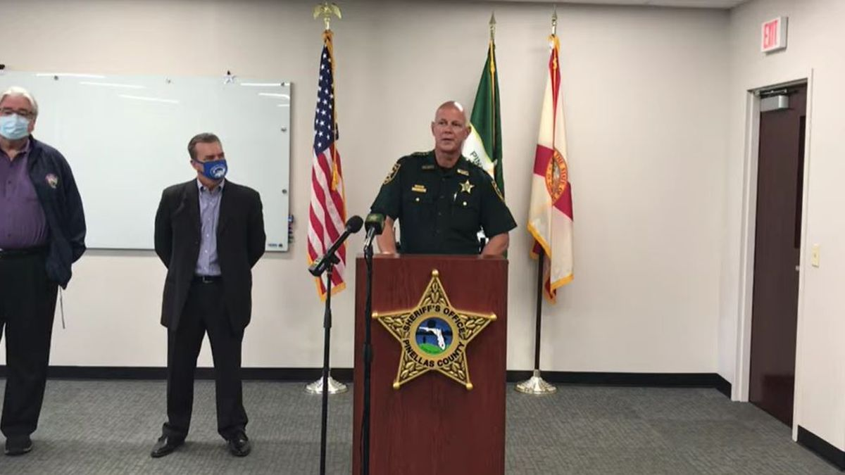 Pinellas County Sheriff's Office holds press conference.