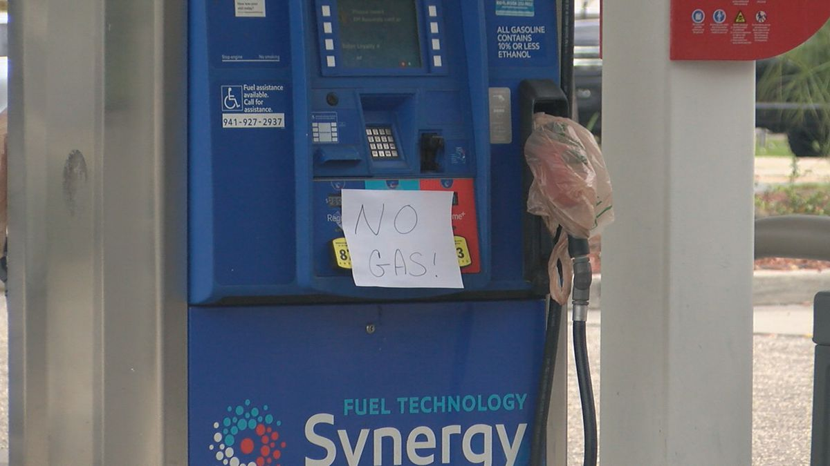 Many gas stations out of fuel on the Suncoast.