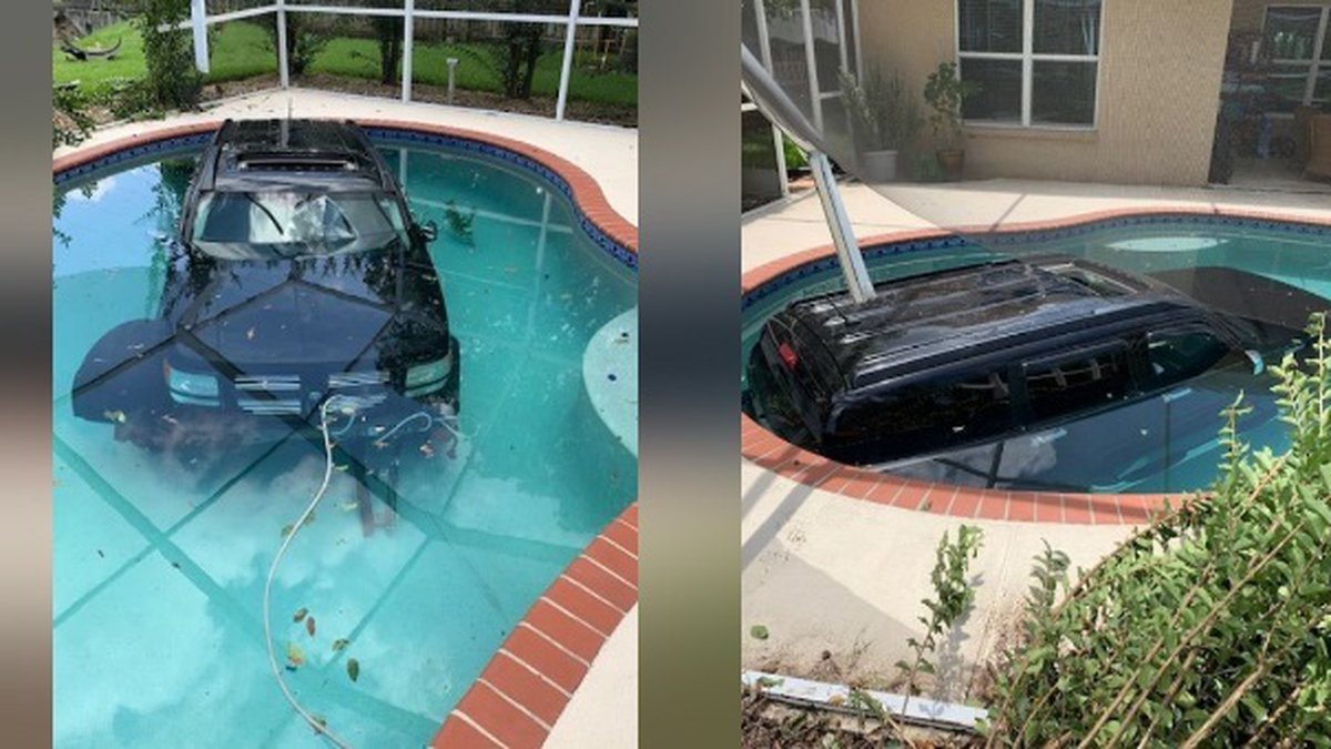 Driver accidentally drove into pool in Hillsborough County Florida