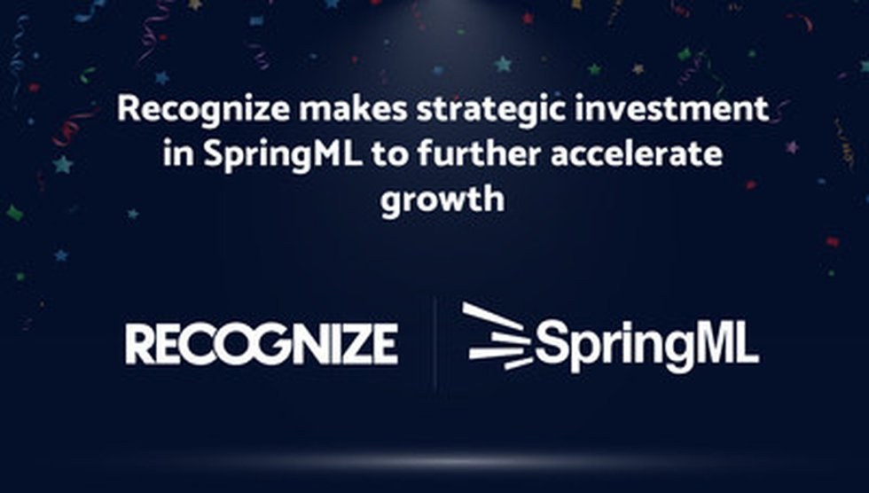 SpringML Receives Strategic Investment from Recognize to Support Next Chapter of Accelerated...
