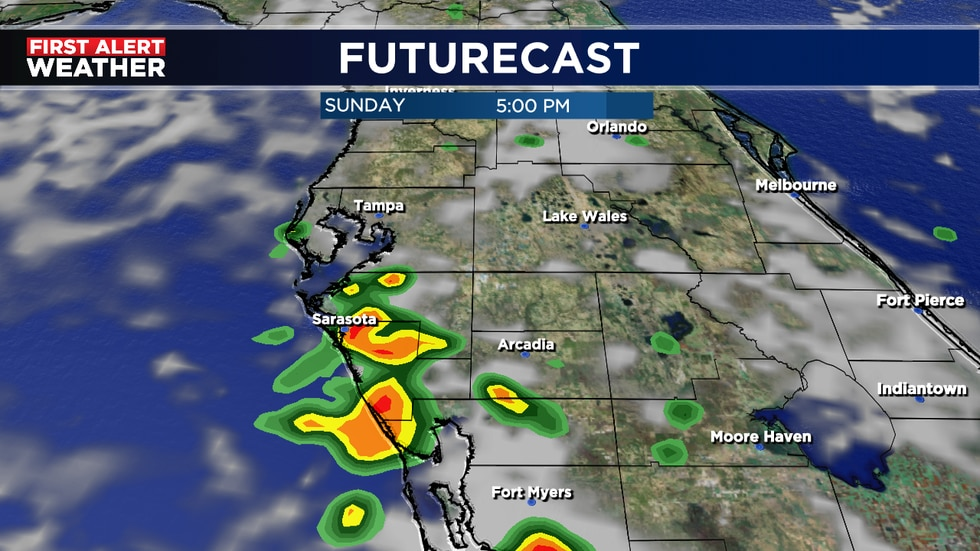 Wider coverage of mid afternoon storms likely for weekend