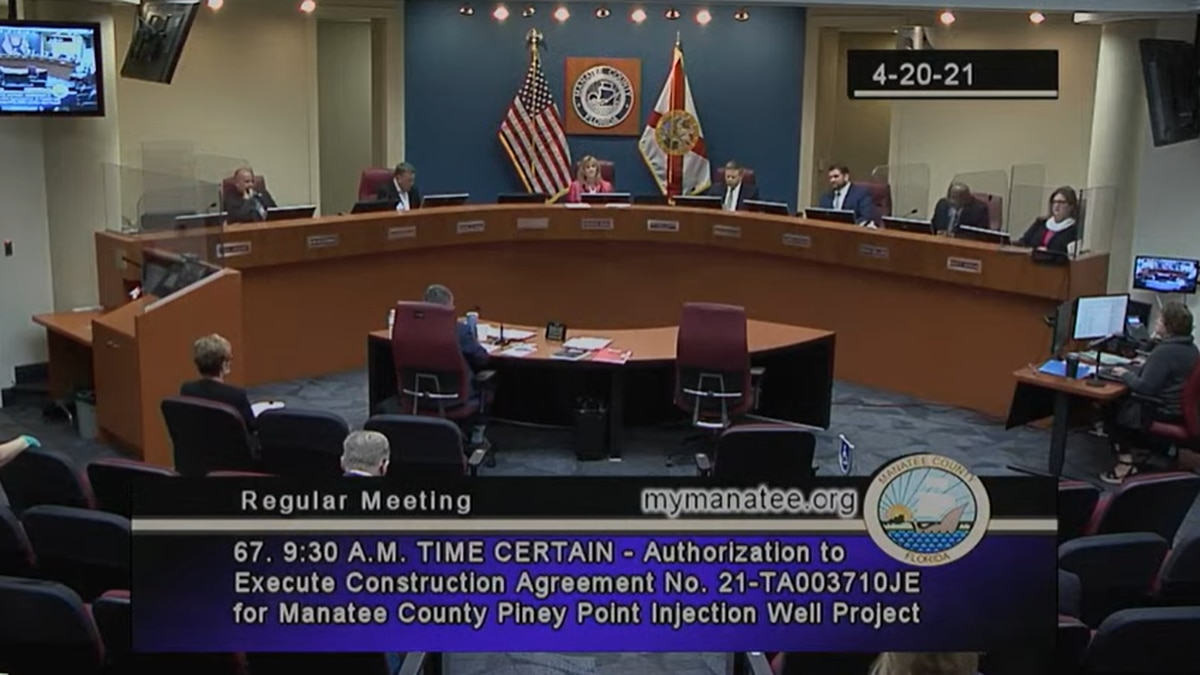 The Manatee County Commission approved going ahead with plans to drill a deep injection well at...