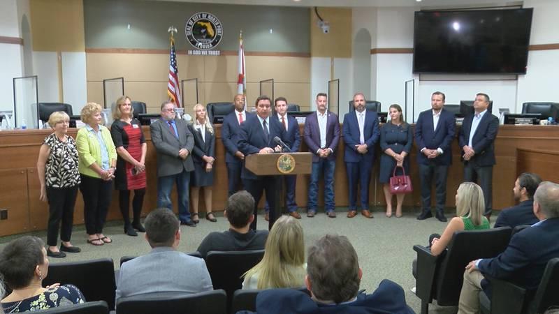 Florida Governor Ron DeSantis pays a visit to North Port.