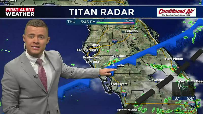 Cold front shifts to the south