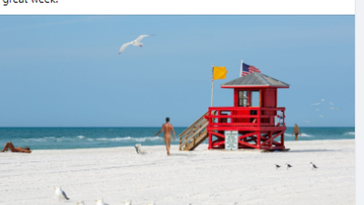 This is a spoof page, please do not show up naked to Siesta Key beach.
