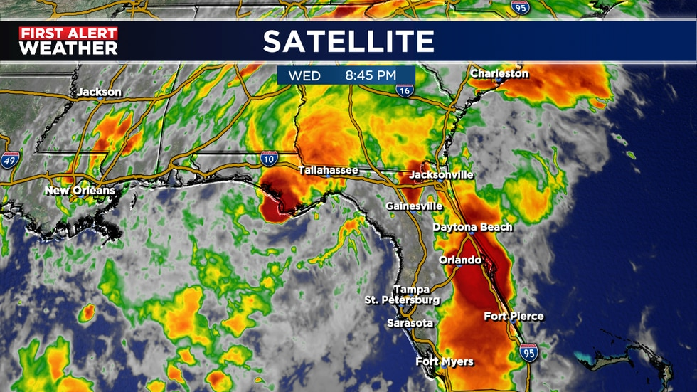 Mindy a weak tropical storm will lose strength on Thursday