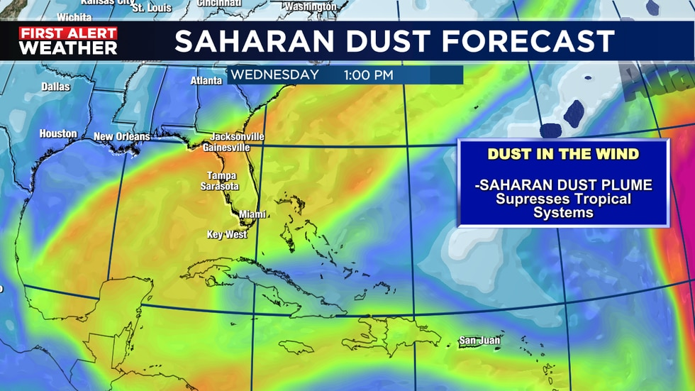 Dust fades away and storms move in Thursday