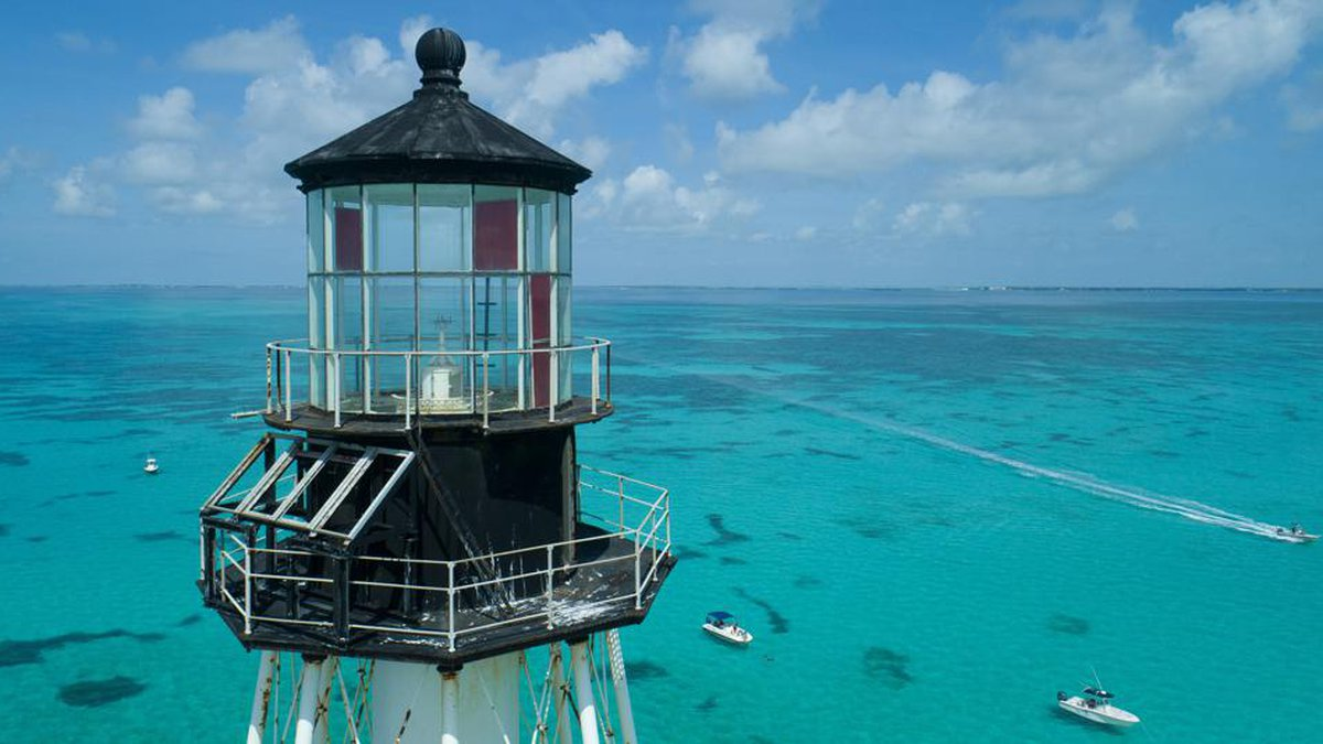 Alligator Reef Lighthouse, off Islamorada, Fla., in the Florida Keys.  (Andy Newman/Florida...
