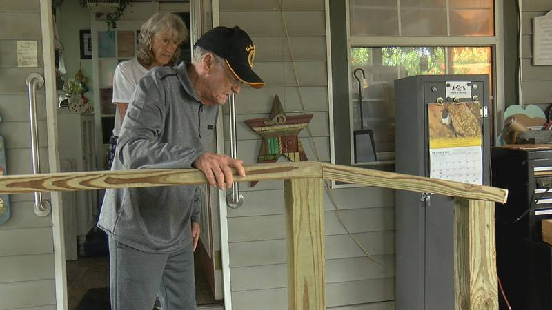 A father-daughter duo teamed up to give back to a veteran who needed their help.