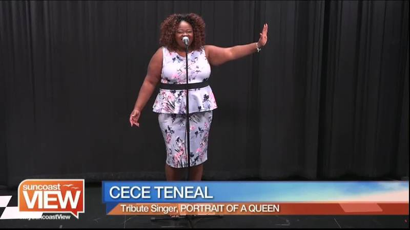 """Cece Teneal performs """"A Tribute to Aretha Franklin""""."""