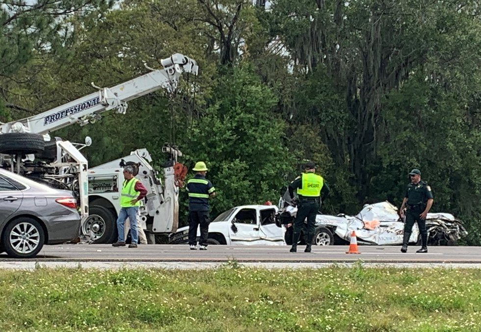 Crash on I-75 North near Fruitville Road