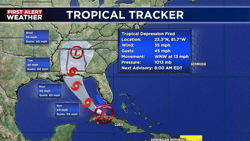 Fred 5am update Saturday