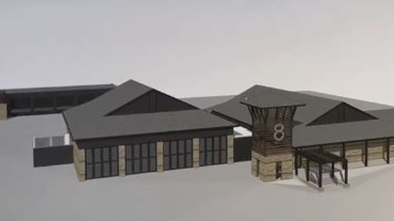 Rendering for fire station