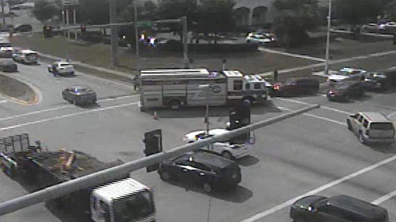 Crash on 43rd St W and Cortez Road W  in Bradenton.
