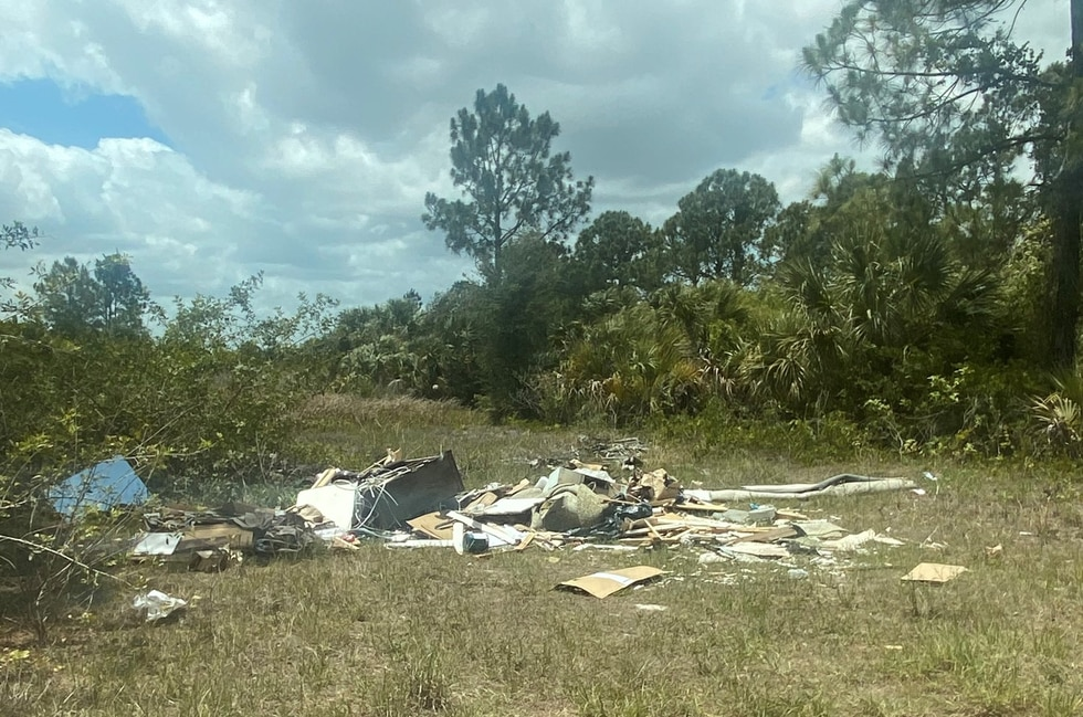 Some of the debris found by North Port police.