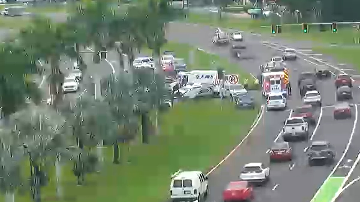 Crews are on the scene Wednesday at U.S. 301 and I-75