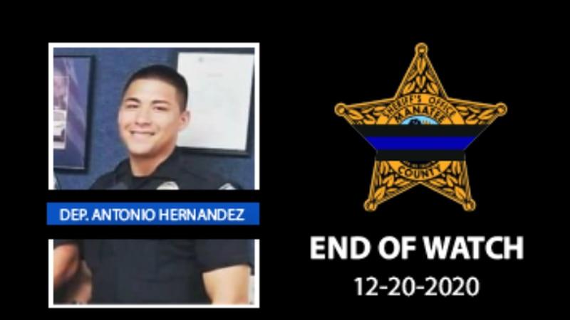 An off duty Manatee deputy was killed in a I-75 crash Sunday morning
