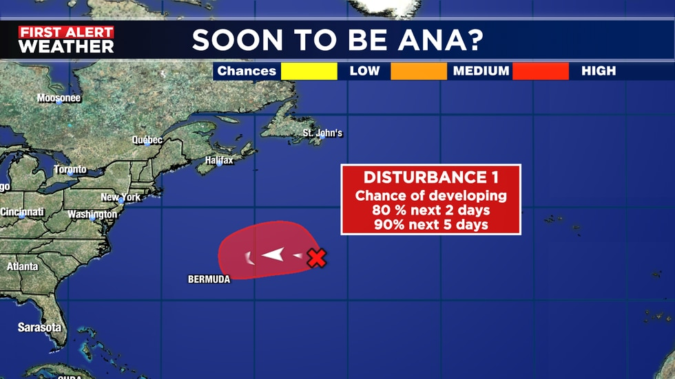 Likely to become 1st. named storm