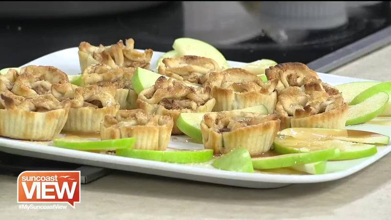 Mini Salted Caramel Apple Pie from The Spice & Tea Exchange
