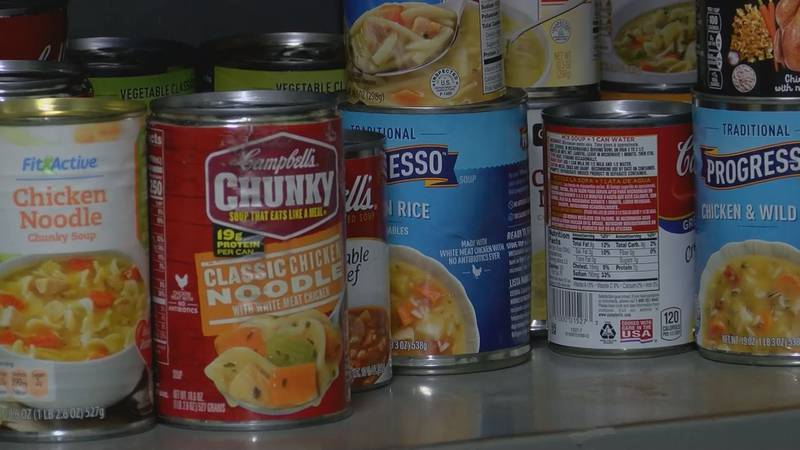 Canned food for ABAC students