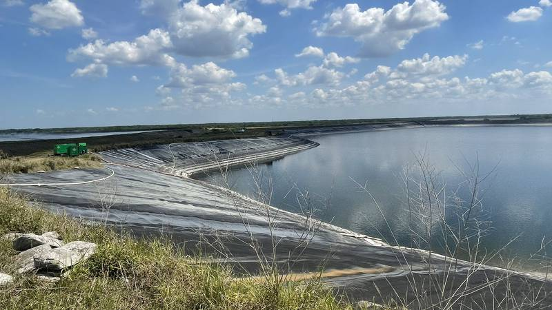 Water levels at the leaking Piney Point reservoir see Tuesday, April 6, have gone down since...