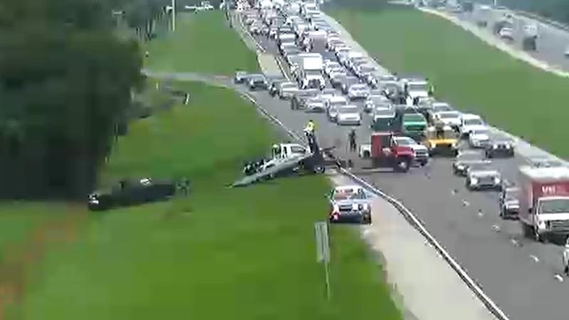 A crash has slowed traffic on Bee Ridge Road