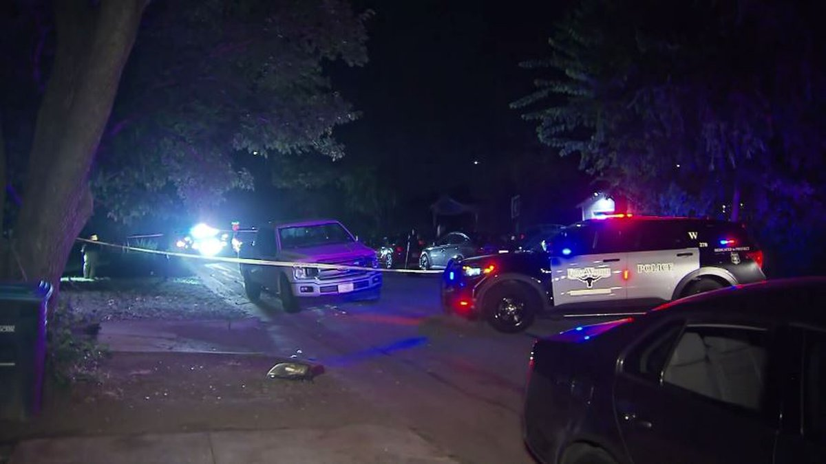 Authorities say a guest at a backyard party in Texas became disgruntled and left, returning...