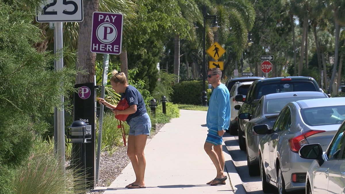 Parking on St. Armands Circle.