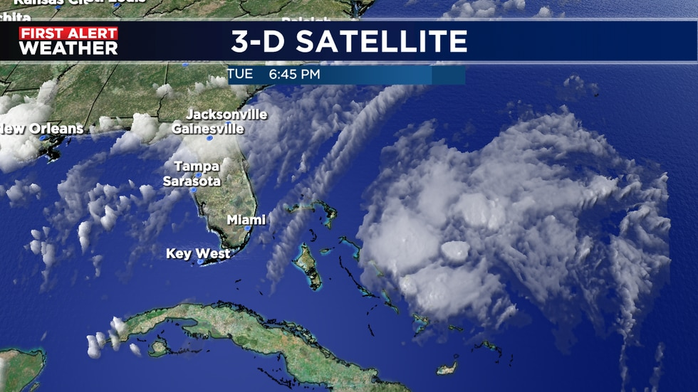 System to move east over Florida bringing better chance for storms