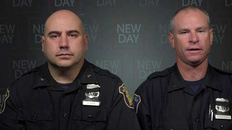 Officers Rocco Fusco and Paul Samoyedny were nearby when the crash happened. A baby got trapped...