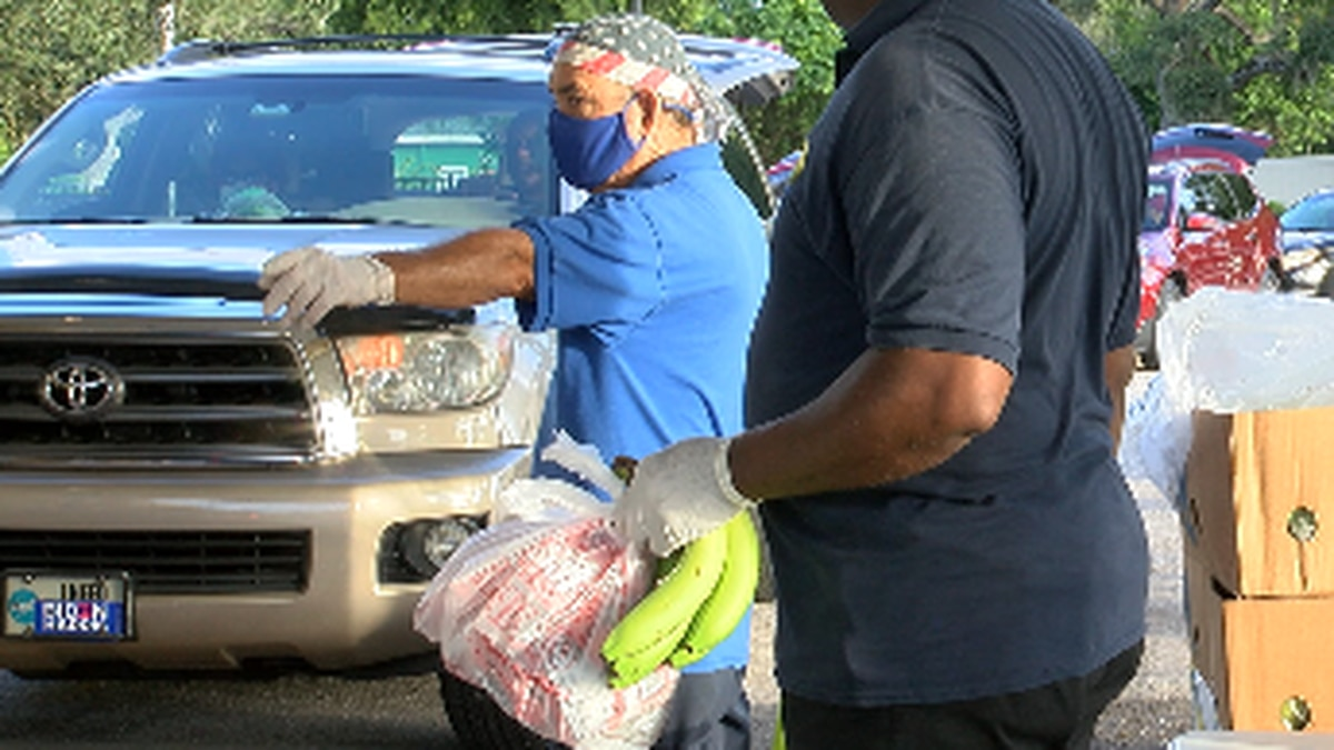 Meal on Wheels Plus of Manatee holds 32nd mass food distribution since mid-March helping...