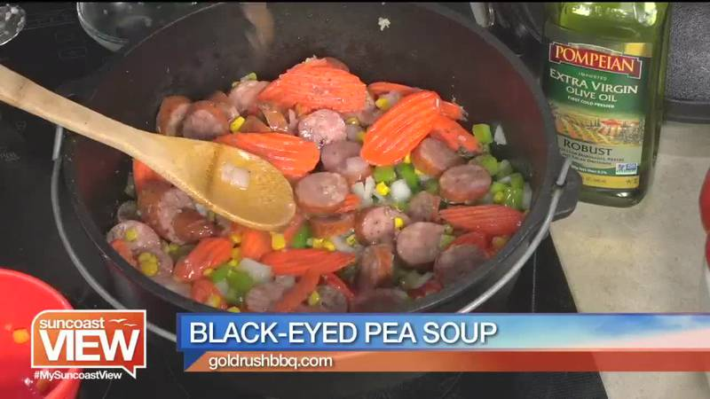 Chef Bob Overholser shows Suncoast View how to make Black-Eyed Pea Soup.