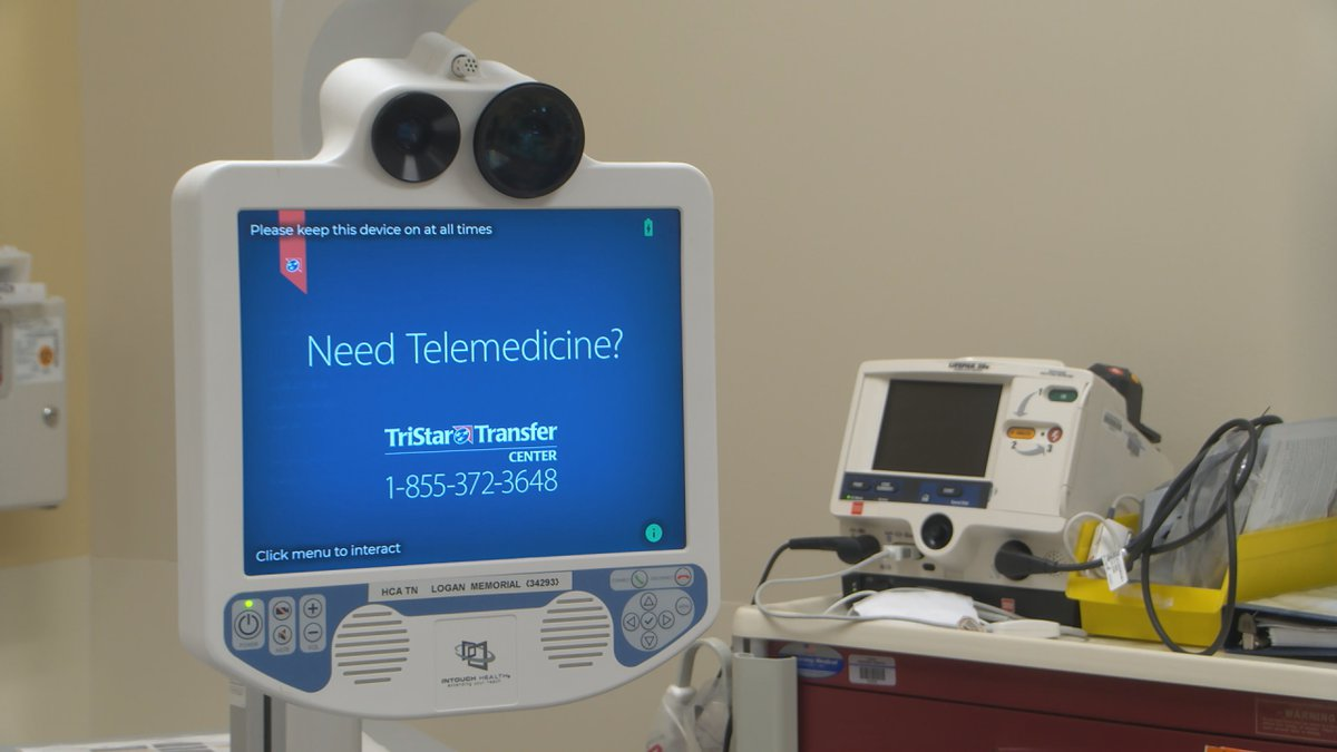 Technology used for cardiac related telehealth visits at Logan Memorial Hospital.
