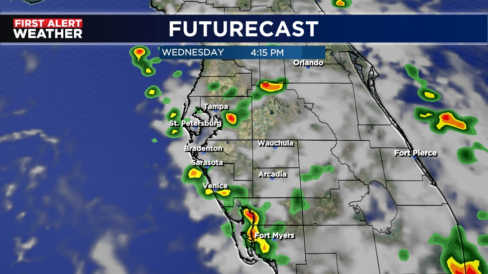 Late day storms likely Wednesday