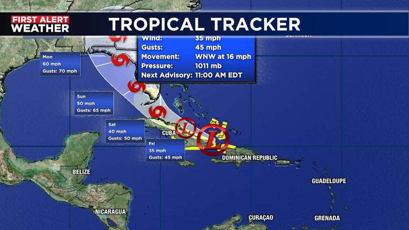 Fred Track 8am Thursday Update
