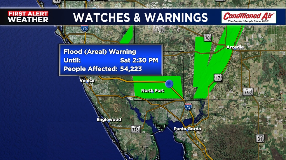 4 feet of water on some roadways in North Port