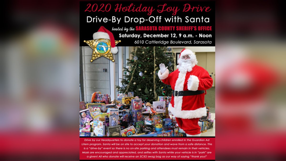 Sheriff's Office announces 4th annual Holiday Toy Drive featuring drive-by Santa event