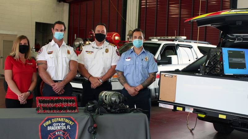 The City of Bradenton Fire Department receives a grant from the Firehouse Subs Public Safety...