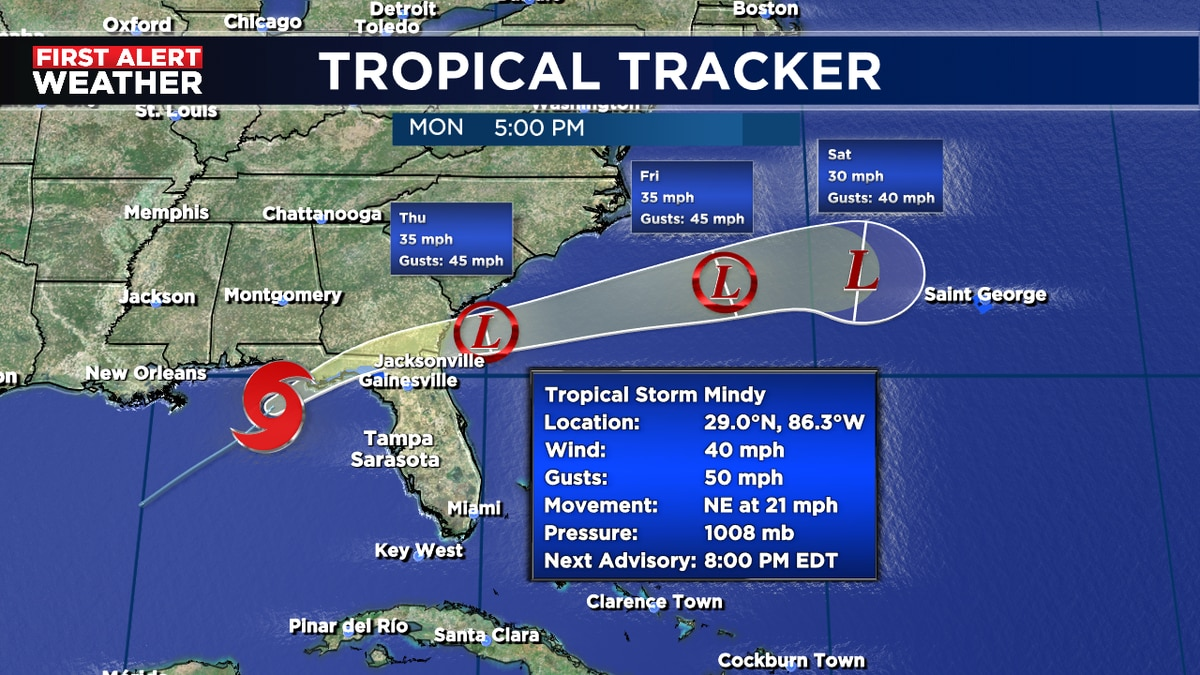Tropical Storm Mindy has formed.
