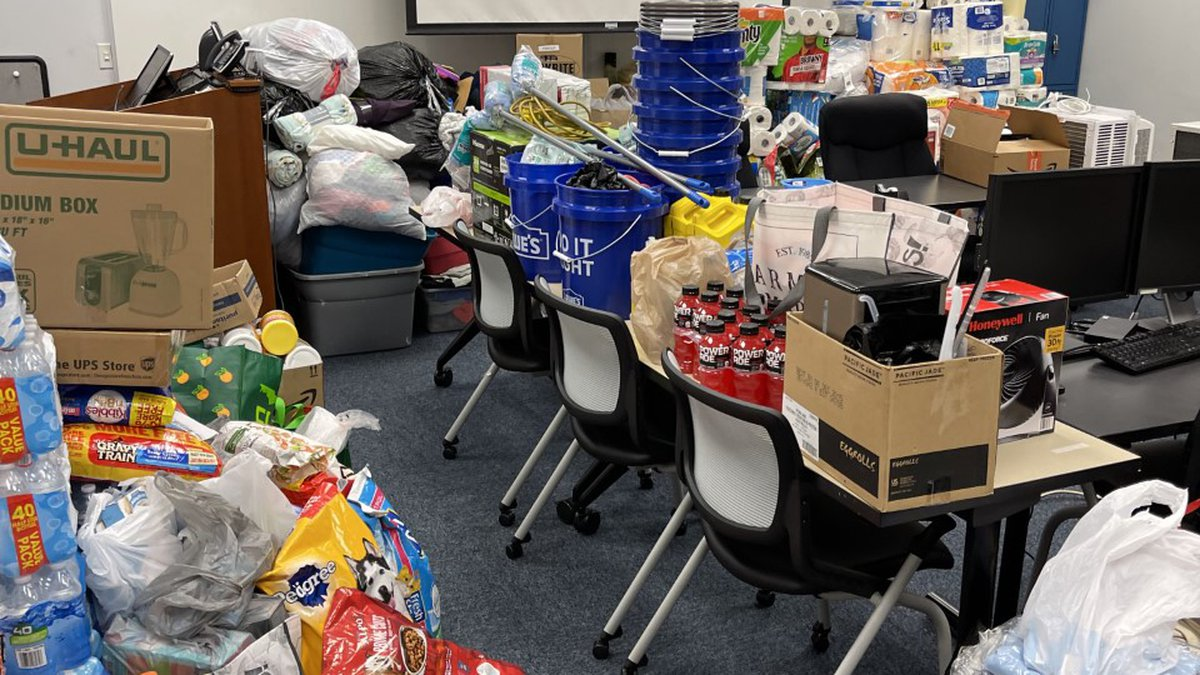 Donations for those in Louisiana affected by Hurricane Ida.