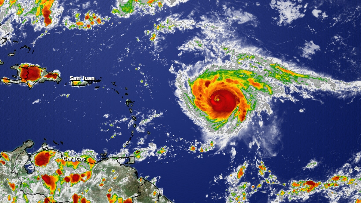Looks to pass well NE of the Caribbean