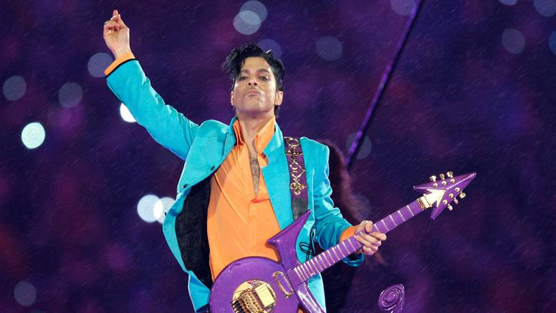 FILE - In this Feb. 4, 2007 file photo, Prince performs during the halftime show at the Super...
